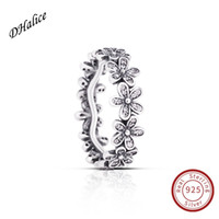 S925 Sterling Silve Dazzling Daisy Meadow Ring cubic zirconi...