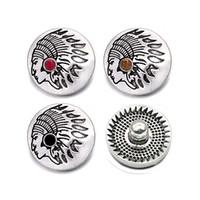 Indiana crystal w410 3D 18mm 25mm rhinestone botón a presión de metal para el Collar de la Pulsera Joyería Intercambiable Mujeres accesorios