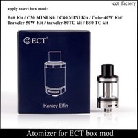 Atomiseur de rechange 100% original pour cigarette électronique ECT B40 / C30 mini / C40 MINI / Cube 40W / Traveler 50W / 80W / B50TC stylo vape Box Mod