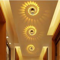 3 W Colro Led Modern Duvar Işık Spiral ışık LED Duvar efekti Lambaları Için KTV / Bar / Dekorasyon / Oturma Odası