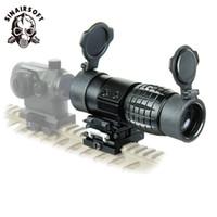 Sinarsoft Tactical Optic Sight 3x拡大鏡スコープコンパクトハンチングリフルスコープサイトw /サイドフリップアップカバーをフリップアップ20mmライフルレールマウント