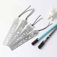 Metal Bookmark Ruler JoyTong Creative 4Styles Hollow Mini Cute Fish Flower Segnalibri Modello Wedding Party Migliori regali Fot Girls
