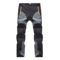 На открытом воздухе одежда мужчины тонкие летние открытый быстрые сухие брюки носимые сращивания цвета тонкие дышащие брюки мужские походы кемпингов спортивные штаны