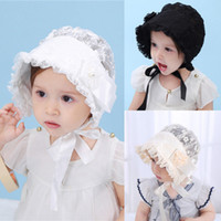 2018 Principessa Cute Baby Girls Lace Flower Hat Infant Kids Beanie Bonnet Hats Photo Prop morbida flessibile Adorabile 3-24M Cappelli Cappelli