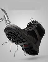 جديد الشتاء أحذية العمل التأمين الرجال عالية الأدوات الصلب تو قبعات مكافحة تحطيم موقع لحام أحذية السلامة الأحذية الدافئة الباردة