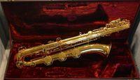 Jupiter JBS1000 Baritone Cuerpo de latón Saxofón Laca de oro Superficie de la marca Instrumentos E Saxo plano con boquilla Estuche de lona