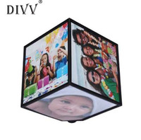 DIVV Top Grand Revolving Picture Photo Cornice Cubo Cornice multipla 360 Rotante girevole MULTI Picture Photo Frame Cube
