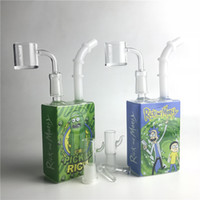 7. 5 inch glass bong colorful liquid sci juice box with 14mm ...