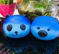 STS200 Jumbo Kawaii Céu Estrelado Panda Squishy Super Lento Rising Charme Squishies Pão Squeeze Bun Kid Toy Anti Stress PU Boneca De Espuma