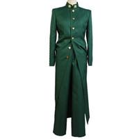 Anime Kostüm Yeşil Ceket Pantolon Seti Üniforma Elbise Kıyafet Noriaki Kakyoin Ceket Pantolon Cosplay Kostüm