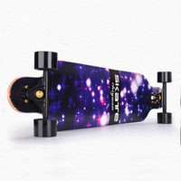 CHI YUAN 41 Inç Profesyonel Longboard Maple Cruiser Kurulu Kaykay Paten kurulu Komple Galaxy