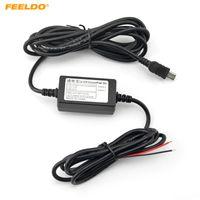 FEELDO 12V تعديل خط التبديل 5V باك تاكوغراف مخصص لسيارة DVR GPS الملاح # 5505