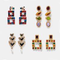 Лучшая леди Vintage падение мотаться серьги для женщин металла Модные Свадеб Bohemian ювелирные изделия рождественские подарки Разноцветный