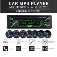 12V 1 DIN In- Dash Bluetooth 7 Color Light Car Stereo FM Radi...
