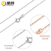 Classico catena base 100% 925 collana in argento sterling argento / rosa oro catena stellata collana gioielli moda gioielli all'ingrosso
