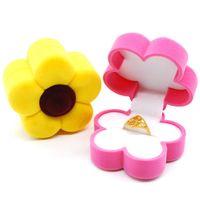 Gioielli da ragazze Confezione regalo Confezione a forma di fiore Velluto per bambini Gioielli per bambini Anelli Orecchini Gioielli Box Packaging Boxes Bambini giocattolo Bella