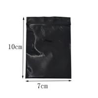 7 * 10cm Petit Noir refermable Zip de verrouillage sac en plastique 200pcs / lot Self Seal serrure Zip Emballage Bijoux Sac Emballage cadeau électronique pochette de rangement