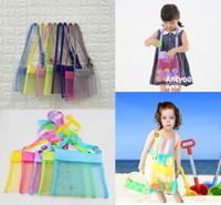 Çocuk Çocuk plaj örgü çanta Taşınabilir kum uzakta Seashell kabuk Çanta Oyuncaklar Saklama Torbaları Sandbox'ları Almak Uzakta Çapraz Vücut omuz çantası satış