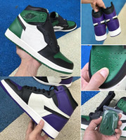 1 Court Purple 1s Pine Green Chicago 1 Top Quality With Box ...