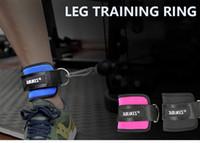 Yeni Fitness Ağırlık Kaldırma Bacak Antreman kemer ayak güç eğitmenler ağırlık taşıyan halka bacak kas Ağırlık eğitimi