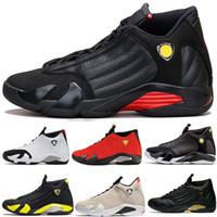 14 14s Black Toe Fusion Varsity Red Suede Thunder Hombres Zapatos de baloncesto Cool Grey DMP Candy Cane Sneakers Sports Shoes size us 8-13