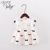 Summer New Girl Dress Butterfly Strawberry Flowers Pattern Baby Girl Dress Children Kids Sleeveless Cute Flower Dresses