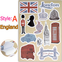 Waterproof UK US Famous Places of Interest Stickers Educatio...