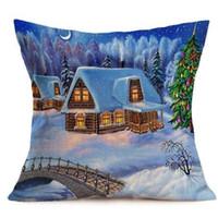 KXAAXS Рождеством наволочки диван чехлы домашнего декора наволочка декоративные подушки