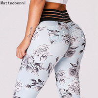 Print Yoga Pants Women Stretchy Fitness Leggings Workout Spo...