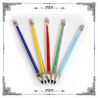 инструмент красочные стеклянная ручка dabber DAB для курения аксессуары для стакан воды трубы нефтяной вышке dabbers бонг даб