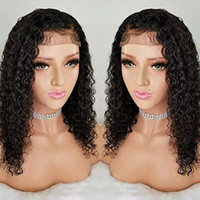 360 Lace Frontal Wigs water wave Curly Human Hair Wigs for B...