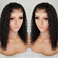 360 кружева фронтальные парики Водяная волна вьющиеся HD тонкопленка швейцарский парик волос для чернокожих женщин с детскими волосами 150% плотность натуральный цвет Diva1