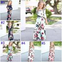 Kids Dresses Children Girls Long Sleeve Floral Princess Dres...