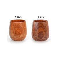 Retro Chinese Style Handmade Natural Wooden Tea Cup Creative...