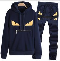 Devil eyes men' s tracksuits patchwork sportswear hoodie...
