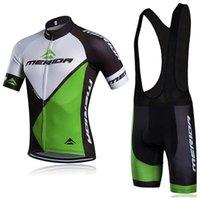Merida Takımı Bisiklet Kısa Kollu Jersey (BIB) Şort Setleri Pro Giyim Dağ Nefes Yarış Spor Bisiklet Maillot Yumuşak Cilt Dostu Z40640
