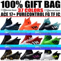 Cheap New Mens ACE 17. 1 High Top Football Boots Laceless ACE...