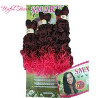 Ücretsiz kargo akıllı iyi kalite sentetik atkı saç ombre renk jerry kıvırmak tığ saç uzatma tığ örgüler saç örgüleri marley büküm