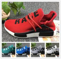 Con Box Human Race pharrell williams Donna Uomo Fashion Outdoor Training Sneaker Nero Rosso scarpe sportive Razze umane Scarpe da corsa taglia 36-45