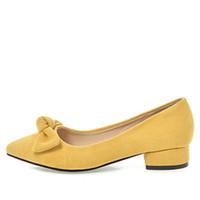 tacco basso quadrato Scarpe morbide per donna Dolce nodo a farfalla Sexy slip a punta slacciata su dolcissime scarpe eleganti taglia 34-43