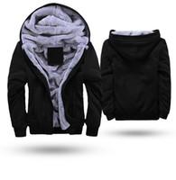 Plus size Felpe con cappuccio nero uomo 2017 inverno spesso felpa con cappuccio da uomo maschio caldo foderato in pelliccia sportswear giacca tute mens cappotto