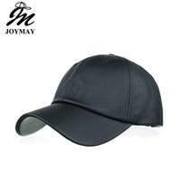 Joymay Beyzbol Şapkası YENI VARıŞ Bahar PU Polyester Katı Renk Moda Erkekler ve Kadınlar için Eğlence Spor Topu Caps Snapback Şapka B489