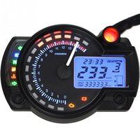 Motorcycle Digital speedometer LCD Gauge Speedometer Tachometer Odometer motorbike instrument 7 color display oil level meter