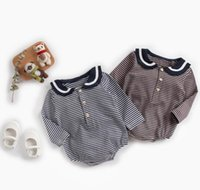 baby kids clothing romper stripped color 100% cotton romper ...