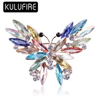 KULUFIRE cute Butterfly brooches para as mulheres enamel pin...