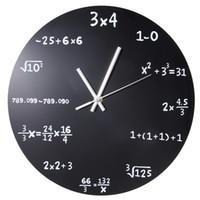 cce48bf356b Grande Criativo Relógio de Parede Matemática Quadro Negro Quiz Relógio  Moderno Design Big Wall Relógios Para