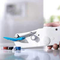 Mini machines à coudre portatif sans fil point coudre des vêtements de tissus électriques Machine à coudre de point Set de bricolage Electromenager