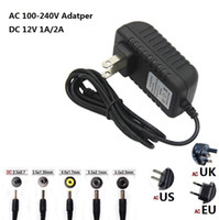 Power Supply Adapter AC 100- 240V To DC 12V 1A 2A Adapter Plu...