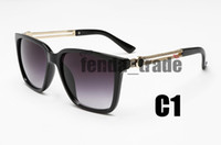 NUEVA Gafas de sol Marca Marco de metal de lujo Summe Mujer Metal Ciclismo Gafas de sol Señoras UV400 Gafas de sol Hombre Montar Sunglasse Conducción Vidrio
