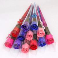 발렌타인 데이 바디 목욕 비누 비누 장미 카네이션 웨딩 파티를위한 꽃 생일 선물 부탁 가정 장식 크리스마스 장난감 교사를위한